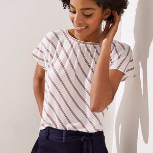 New With Tag- Ann Taylor Loft Women Tee Top L